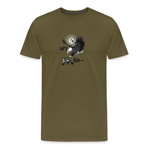 Baldeagle met een panhead - Mannen Premium T-shirt
