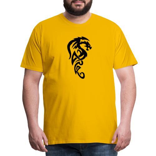 Smok tribial - Koszulka męska Premium