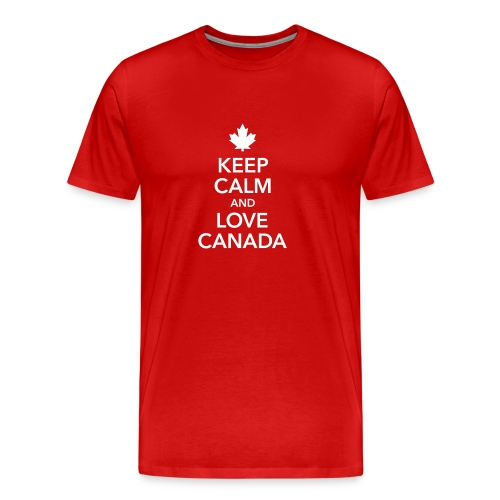 keep calm and love Canada Maple Leaf Kanada - Men's Premium T-Shirt