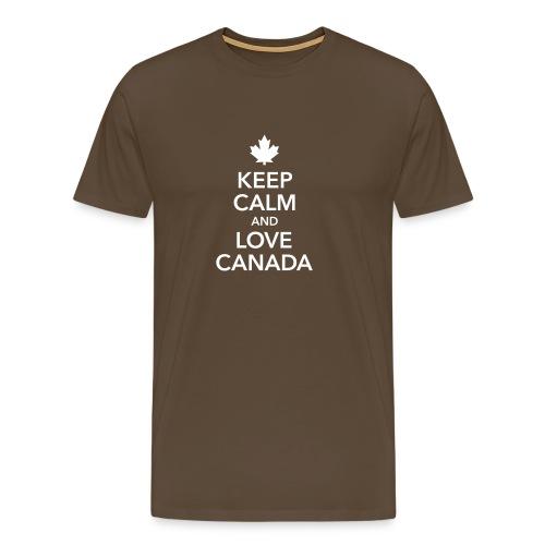 keep calm and love Canada Maple Leaf Kanada - Men's Premium T-Shirt