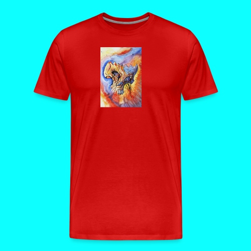 Calavera Acuarela - Camiseta premium hombre