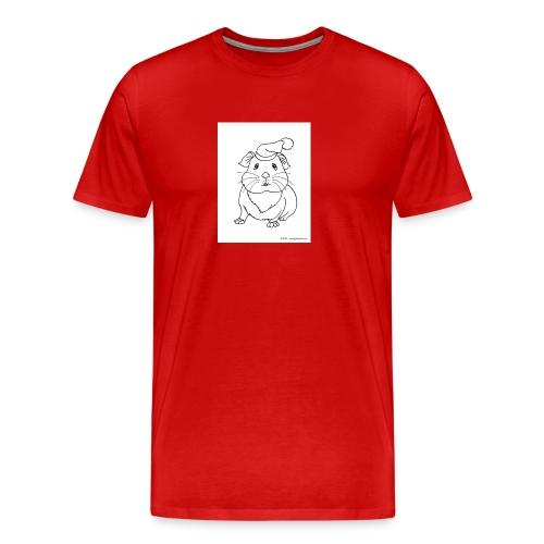 Hamster petite souris blanche guinea - T-shirt Premium Homme