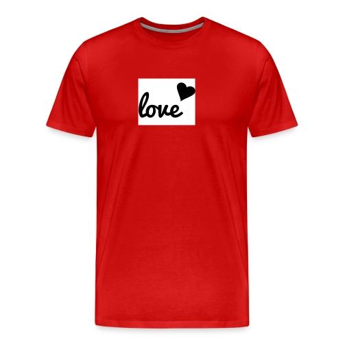 Handyhülle schwarz weiß love - Männer Premium T-Shirt