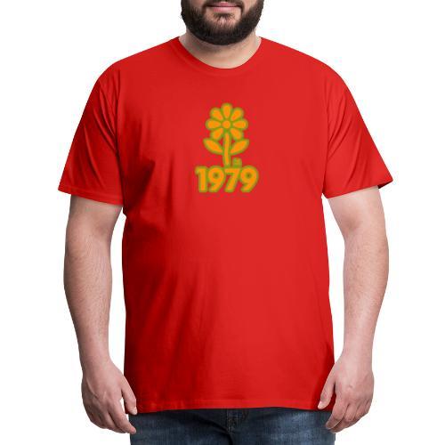 1979 yellow flower - Männer Premium T-Shirt