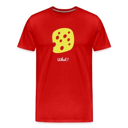 What? Logo - Männer Premium T-Shirt