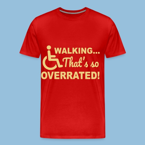 Walkingoverrated1 - Mannen Premium T-shirt