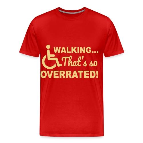 Walkingoverrated1 - Mannen Premium T-shirt