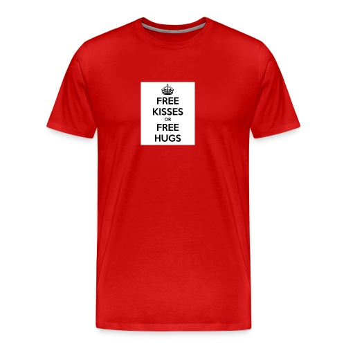 free kisses or free hugs - Mannen Premium T-shirt