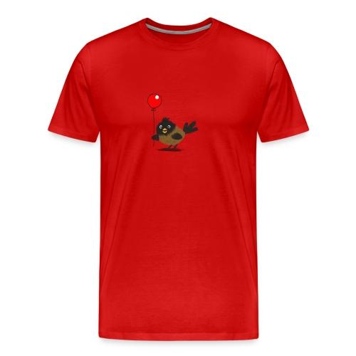 vogeltje met ballon - Mannen Premium T-shirt