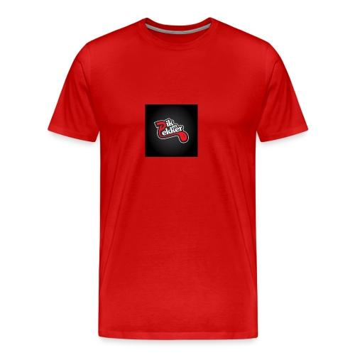 dik en lekker logo klaar red jpg - Mannen Premium T-shirt