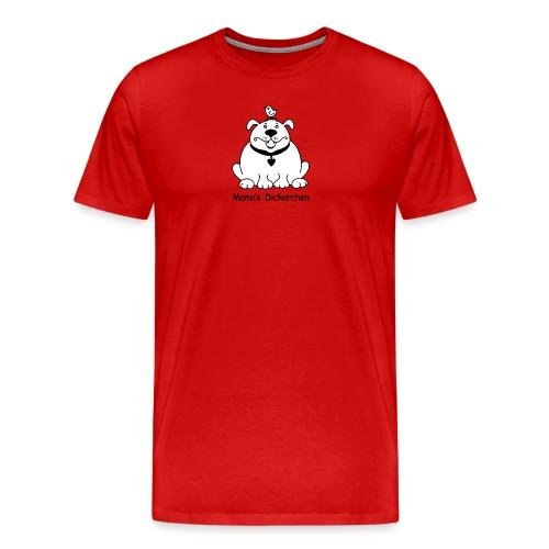 Dicker, süßer Hund s/w - Männer Premium T-Shirt