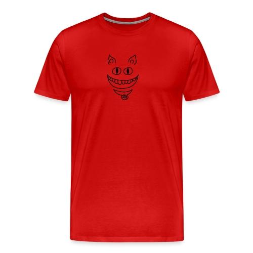 Gato sonriente - Camiseta premium hombre