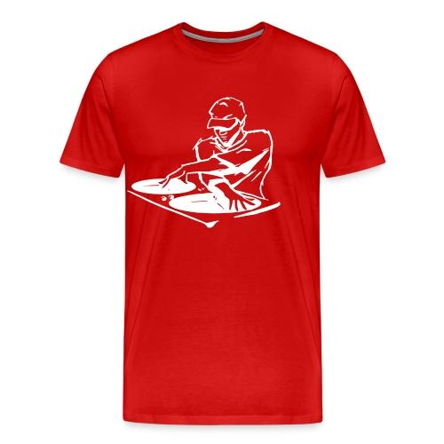 Deejay400Wit - Mannen Premium T-shirt