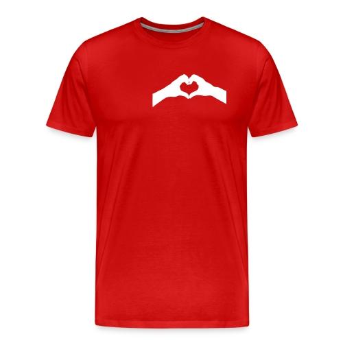 jolie petit coeur dans ma main (vector 1 couleur) - T-shirt Premium Homme
