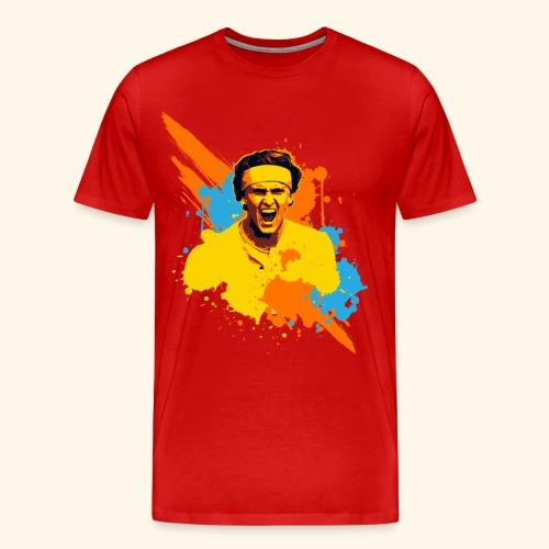 Great expression of a table tennis champion - Männer Premium T-Shirt