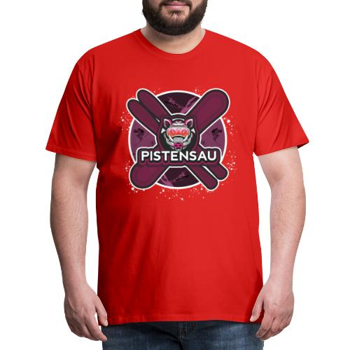PistenSau Lachshimmel - Männer Premium T-Shirt