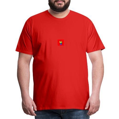 Lgbt Faust Protest roter Hintergrund - Männer Premium T-Shirt