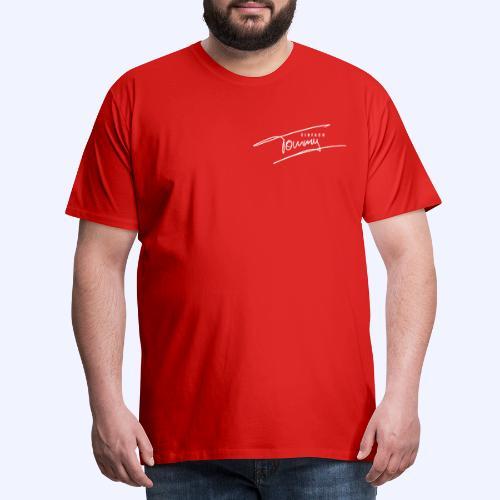 Einfach Tommy / White Font - Männer Premium T-Shirt