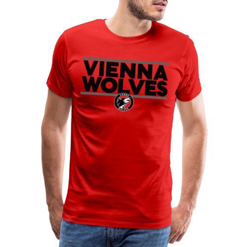 Vienna Wolves Shirt Dunkel-Grau - Männer Premium T-Shirt