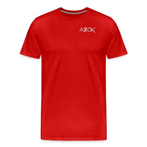 Azok-Esport logo hvit - Men's Premium T-Shirt