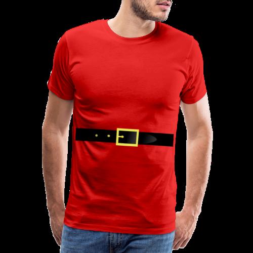 Weihnachtsmann Guertel - Männer Premium T-Shirt