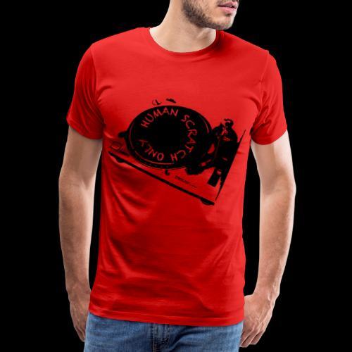 human scrtach only black - Camiseta premium hombre