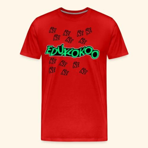 logo de eduxlokoo ñe - Camiseta premium hombre