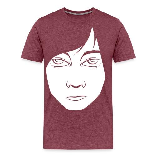 read head hvid png - Herre premium T-shirt