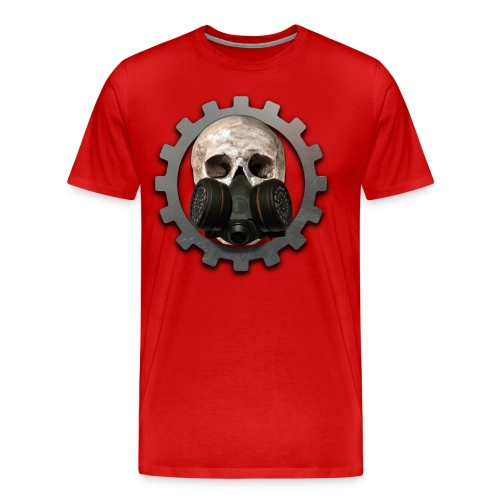 EBM - ELECTRONIC BODY MUSIC DEATH HEAD RESPIRATOR - Men's Premium T-Shirt