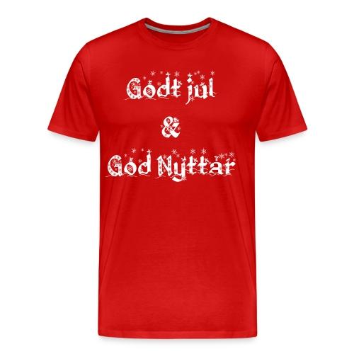 Godt Jul & God Nyttår - Premium T-skjorte for menn