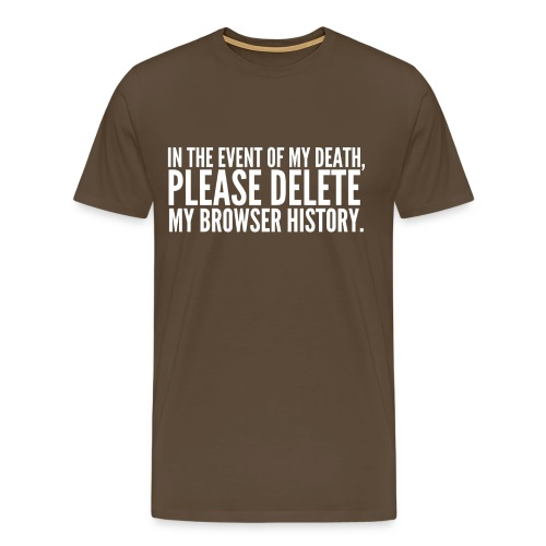 My Browser History - Men's Premium T-Shirt