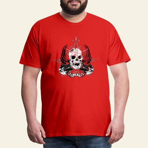 Grunge Rock N' Roll Skull - Herre premium T-shirt