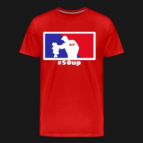 Blue Red w png - Männer Premium T-Shirt