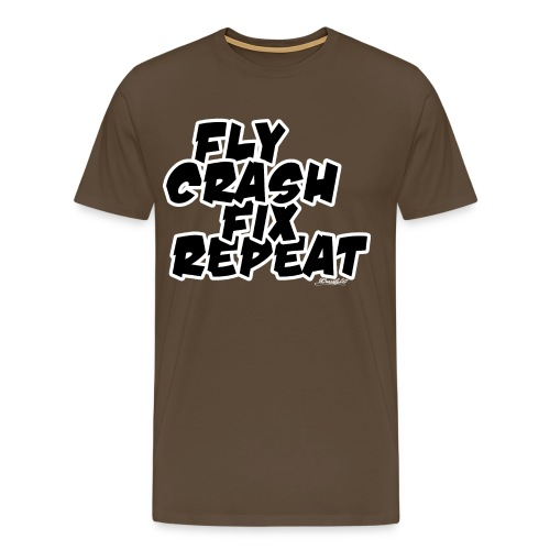FlyCrashFixRepeat signed - Men's Premium T-Shirt