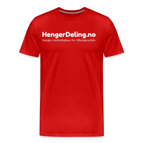 Norges markedsplass for tilhengerutleie - hvit - Premium T-skjorte for menn