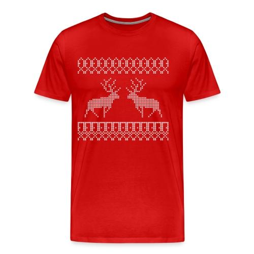 Rendier - Mannen Premium T-shirt