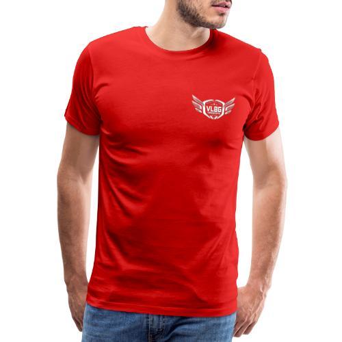 VLBG Logo Weiß (Vorne & Hinten) - Männer Premium T-Shirt