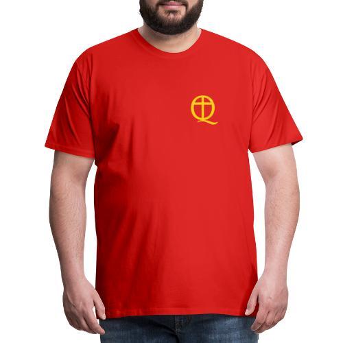 QC Gul - Premium-T-shirt herr