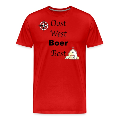 Oost West Boer Best - Mannen Premium T-shirt