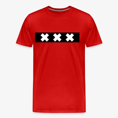 Amsterdam XXX flag souvenir - Mannen Premium T-shirt