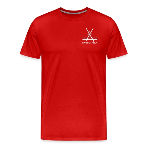 Logo gagchola blanc png - T-shirt Premium Homme