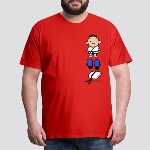 Karate Goederen Blauw - Mannen Premium T-shirt