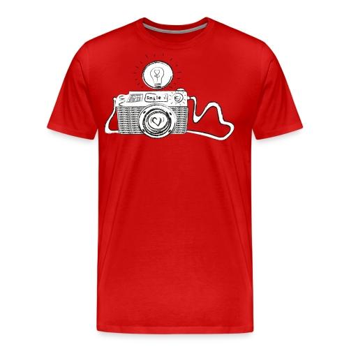 S33 camera-smile - Männer Premium T-Shirt