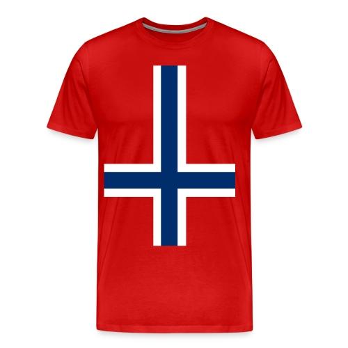 B W devil cross - Men's Premium T-Shirt