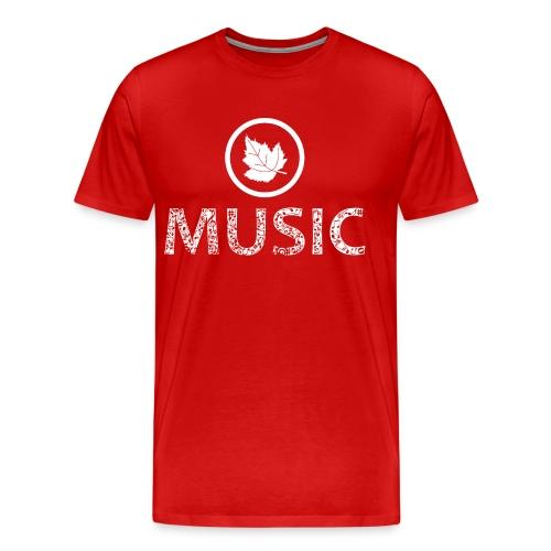 logo bashk music e bardhe - Men's Premium T-Shirt