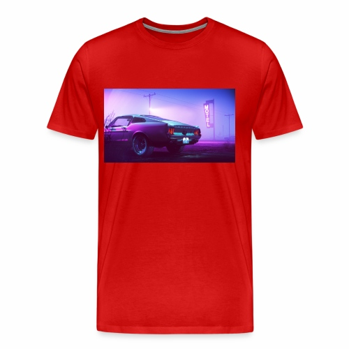 purple scorpion car - Koszulka męska Premium