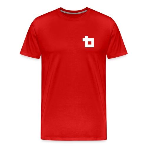Lunatics Logga, vit - Premium-T-shirt herr
