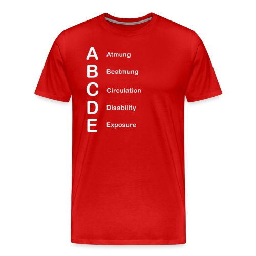 ABCDE-Schema - Männer Premium T-Shirt