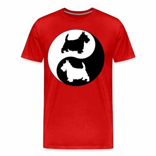 yin yang scotties the perfect balance - Men's Premium T-Shirt