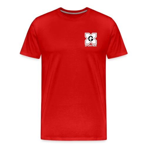 Logo GX SPORTNER blanc - T-shirt Premium Homme